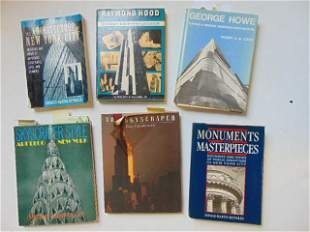 """6 Books, American Architecture including: """"George Howe:"""