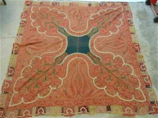 """Antique paisley, 71"""" by 72"""""""