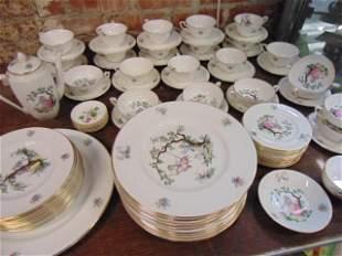 "Set Royal Worcester porcelain dinnerware, ""Watteau"""