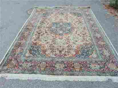 Room Size carpet, silk, light colors, extensively