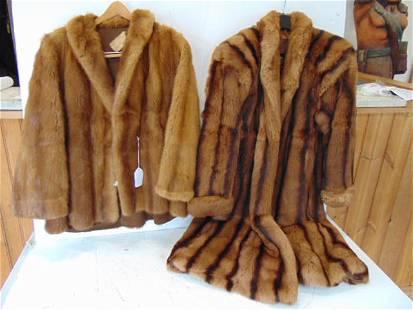2 fur coats, Polo Norte Furs & House of Plumer fur coat
