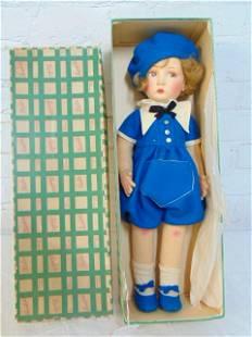 "Lenci doll in original box, ""Boy Doll"", in sailors"