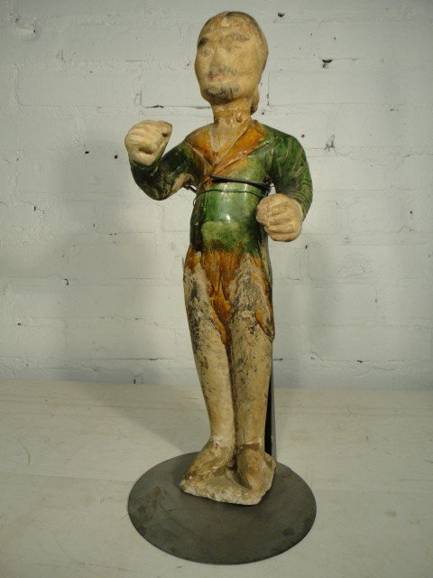 12: Figure of a boxer, Tang Dynasty