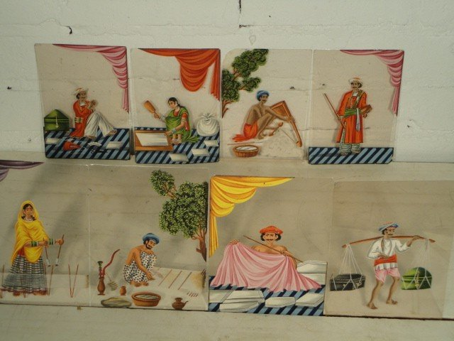 15: Lot 24 paintings on mica panels