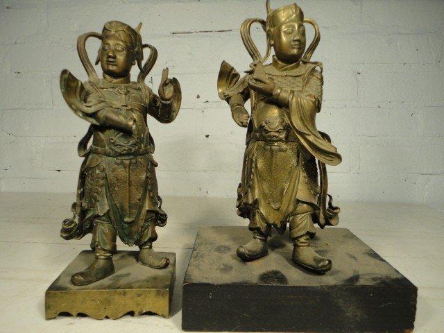 18:Two  Bronze figures.
