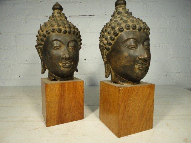 24: Pair bronze Buddha's