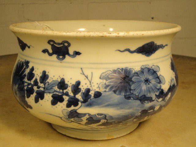 125: Kangxi blue & white porcelain bowl