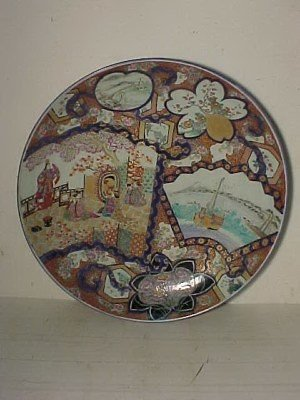 "33: Large Japanese porcelain charger, 24.5"" diameter"