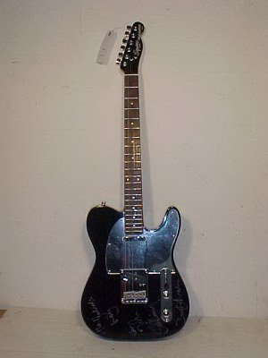 101: Telecaster guitar by Fender, signed Vanilla Fudge