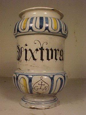 108: Yellow & Blue Apothecary Jar
