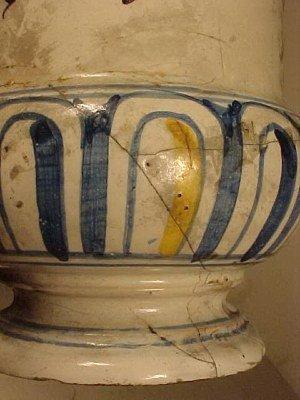 108: Yellow & Blue Apothecary Jar - 3