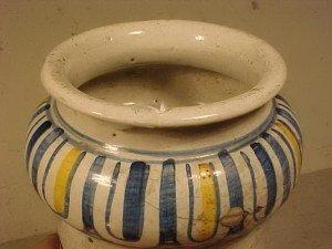 108: Yellow & Blue Apothecary Jar - 4