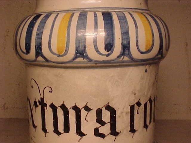 108: Yellow & Blue Apothecary Jar - 5