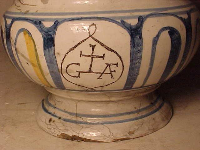 108: Yellow & Blue Apothecary Jar - 6