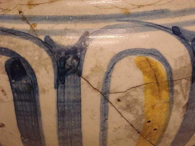 108: Yellow & Blue Apothecary Jar - 7