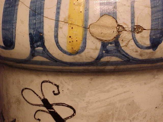 108: Yellow & Blue Apothecary Jar - 8