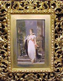 119: Porcelain plaque,  Koningin Luise von Richter