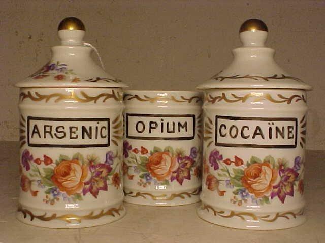 127: Opium, Cocaine & Arsenic apothecary jars