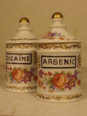 127: Opium, Cocaine & Arsenic apothecary jars - 3
