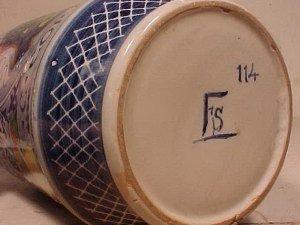 """131: Apothecary Jar """"C:CORALLINA T"""" - 4"""
