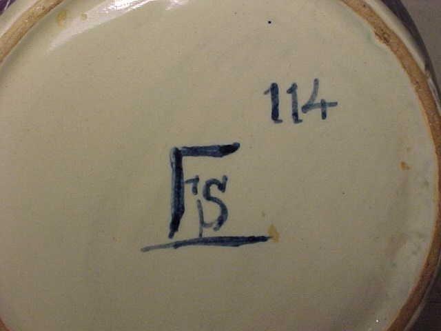 """131: Apothecary Jar """"C:CORALLINA T"""" - 9"""