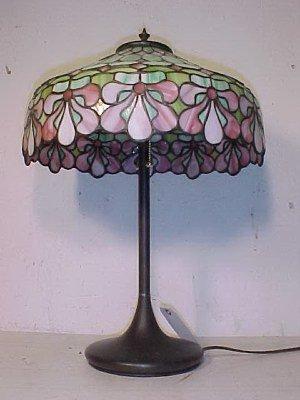 185: Handel leaded glass table lamp - 2