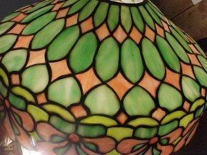 185: Handel leaded glass table lamp - 4