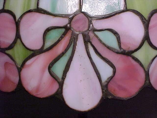 185: Handel leaded glass table lamp - 5