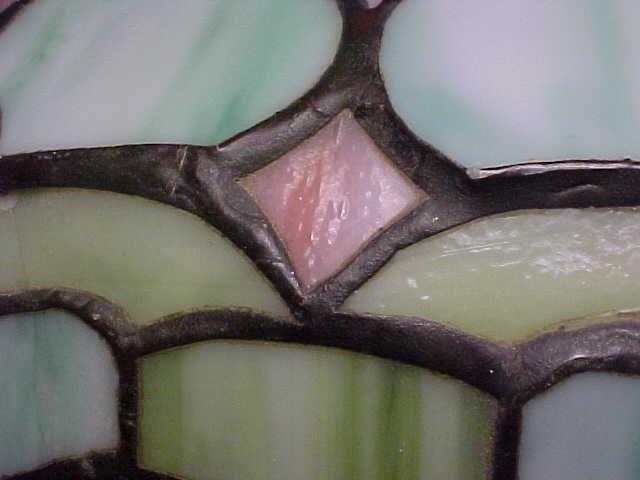 185: Handel leaded glass table lamp - 6