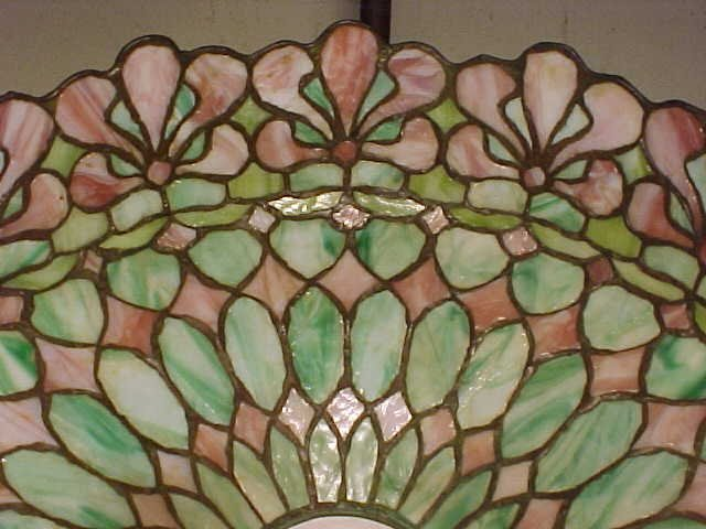 185: Handel leaded glass table lamp - 8