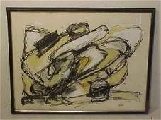 188: Oil on paper abstract sgd Mitchell