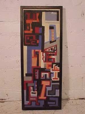 """190: O/C, abstract, signed Peter Busa, 23.5"""" by 8.5"""""""