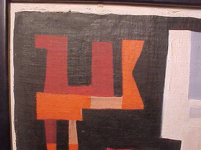 """190: O/C, abstract, signed Peter Busa, 23.5"""" by 8.5"""" - 7"""