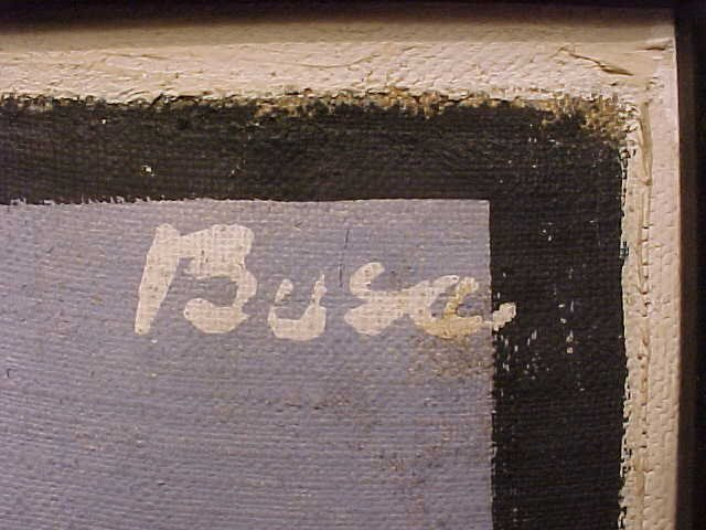 """190: O/C, abstract, signed Peter Busa, 23.5"""" by 8.5"""" - 9"""