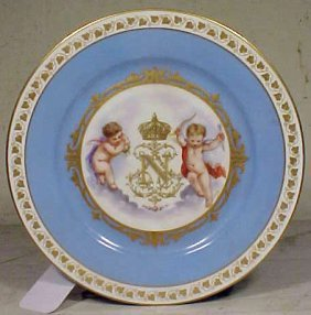 Porcelain Napoleonic Plate With Gilt Decoration