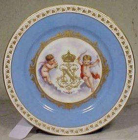 118: Porcelain Napoleonic plate with gilt decoration