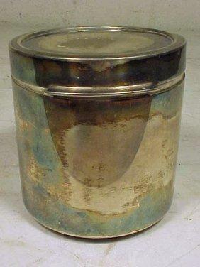123: Sigvard Bernadotte /Georg Jensen sterling canister