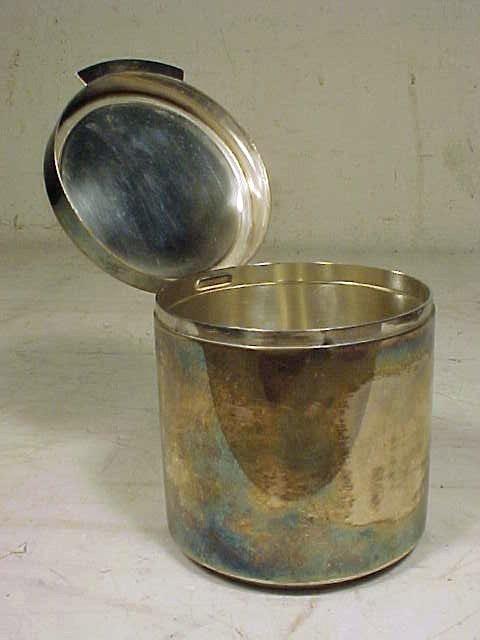 123: Sigvard Bernadotte /Georg Jensen sterling canister - 2