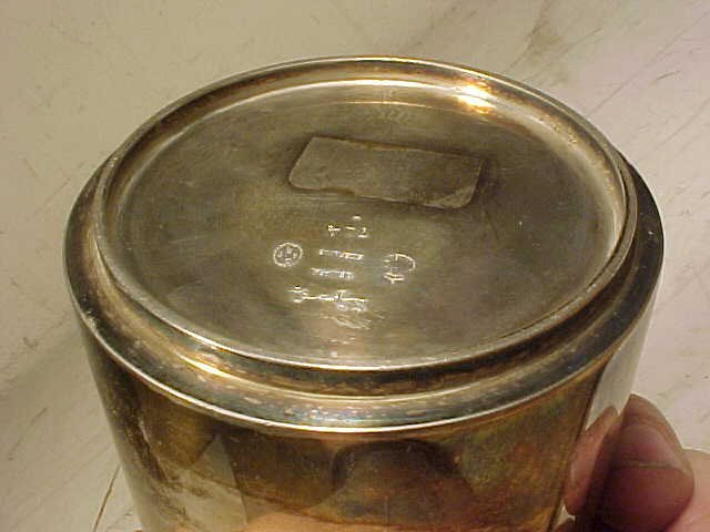 123: Sigvard Bernadotte /Georg Jensen sterling canister - 3