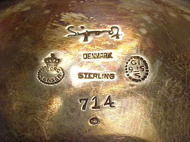 123: Sigvard Bernadotte /Georg Jensen sterling canister - 4