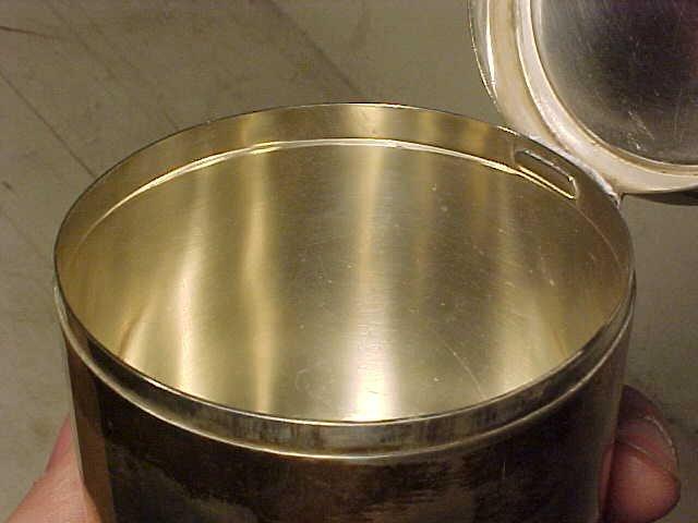 123: Sigvard Bernadotte /Georg Jensen sterling canister - 6