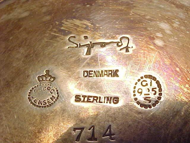 123: Sigvard Bernadotte /Georg Jensen sterling canister - 9