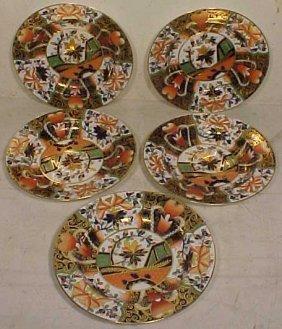 Set 5 Royal Crown Derby Soup Plates