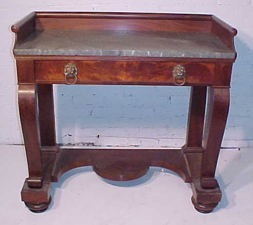 153: Marble top empire console table / pier table
