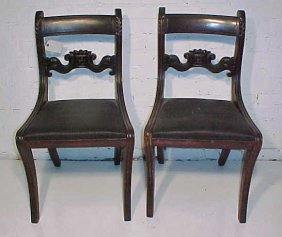 "Pair Period Chairs, Plus One ""as Is"" For Parts."