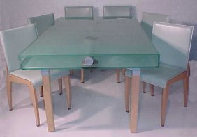 Glass Top Extension Table & Chairs