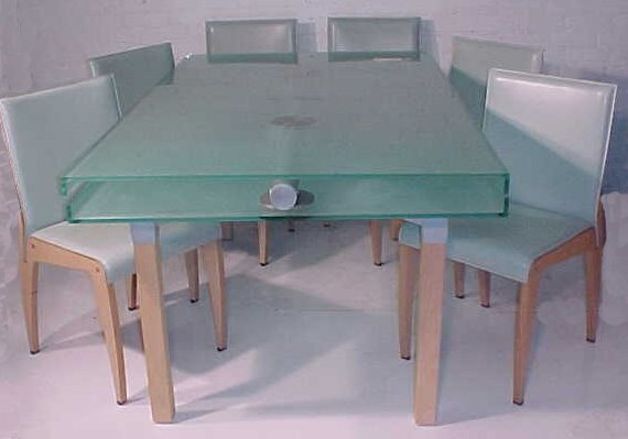 157: Glass top extension table & chairs