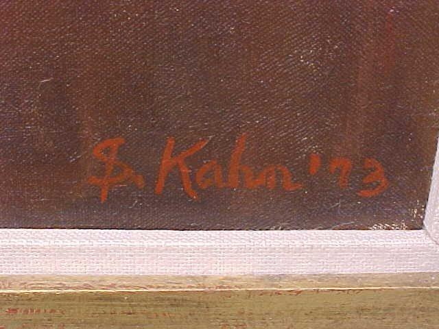 "196: Oil, ""Gallery Interior"", signed Susan Kahn - 4"