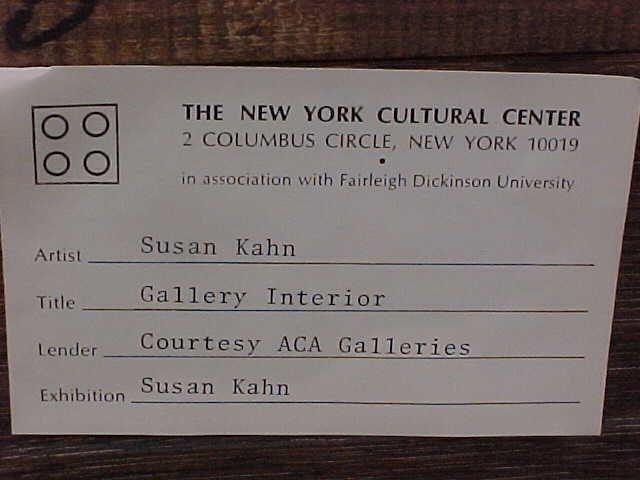 "196: Oil, ""Gallery Interior"", signed Susan Kahn - 7"