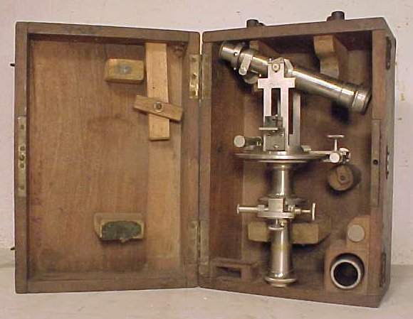 18: French nickel plated optical instrument by H. Morin
